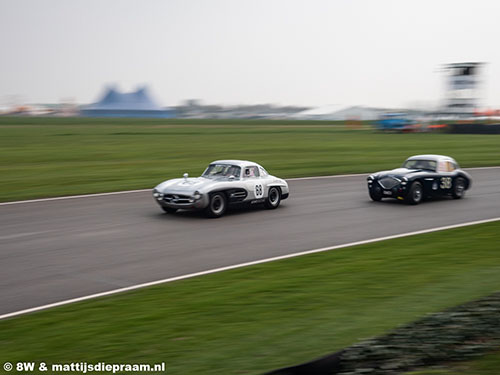 David Coulthard, Mercedes 300 SL, Richard Woolmer, Austin Healey 100 Coupé, 2019 Goodwood Members Meeting