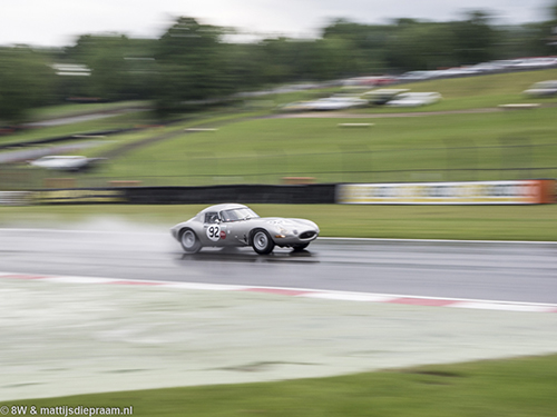 Julian Thomas/Calum Lockie, Jaguar E-type, 2017 Brands Hatch Masters Festival
