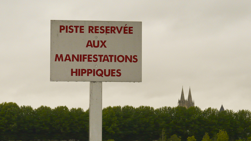 Caen circuit: hippodrome sign