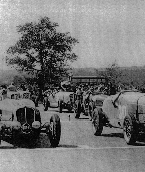 Delahayes at the start of the 1936 Comminges GP