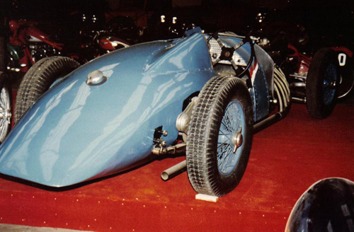 Delahaye 145 no. 48775 in the eighties, rear view