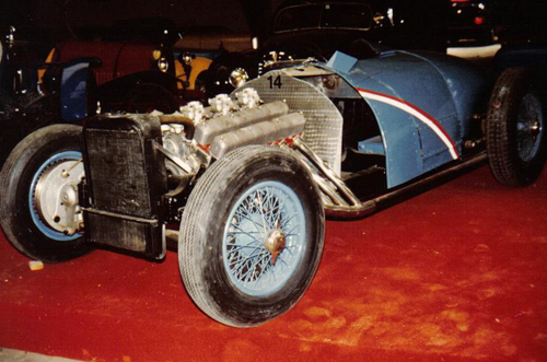 Delahaye 145 no. 48775 in the eighties, front view
