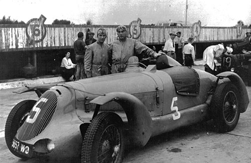 Gaston Serraud/Pierre Meyrat, Delahaye 135S, 1948 Paris 12 Hours