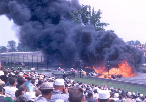 Pink Indy Car  Crash