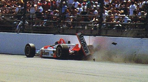 Fittipaldi, crash, 1994 Indy 500