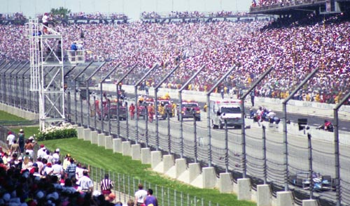 Fittipaldi, crash scene, 1994 Indy 500