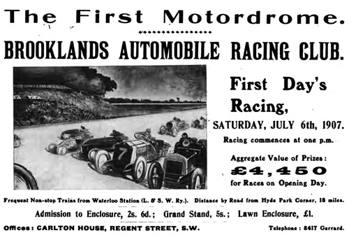 Brooklands 1907 announcement