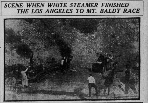 Mount Baldy 1908 winner, the White Streamer