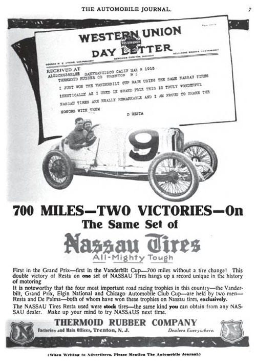 Nassau tires advertisement