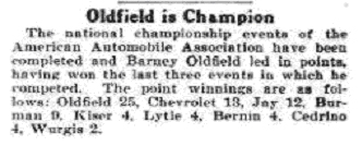 Oldfield is champion