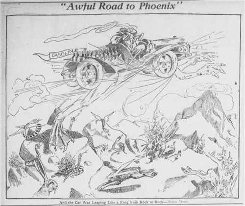 LA to Phoenix cartoon