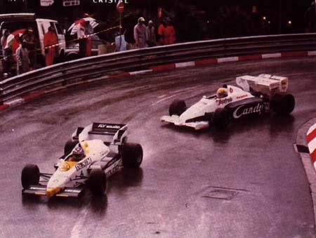 Keke Rosberg, Ayrton Senna, Monaco GP 1984